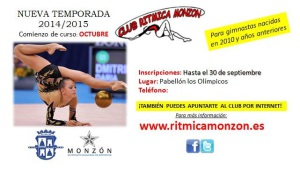 Anuncio Club Rítmica Monzón