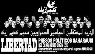 Exigimos la liberación de los presos políticos saharauis y hacemos un llamamiento a la participación en el acto convocado hoy en Zaragoza