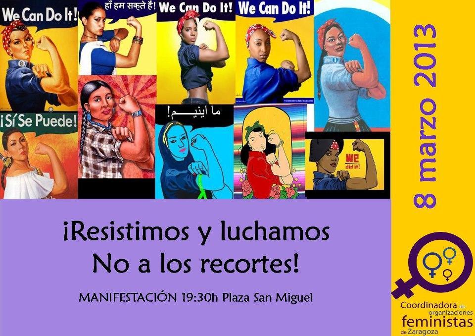 Llamamiento a la participación masiva en los actos convocados con motivo del Día Internacional de la Mujer