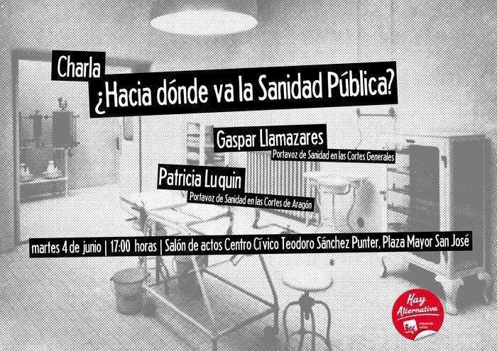 Gaspar Llamazares y Patricia Luquin analizan la situación de la Sanidad Pública