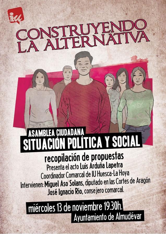 Trasladamos la asamblea a Almudévar con un acto público para recoger las propuestas de la ciudadanía