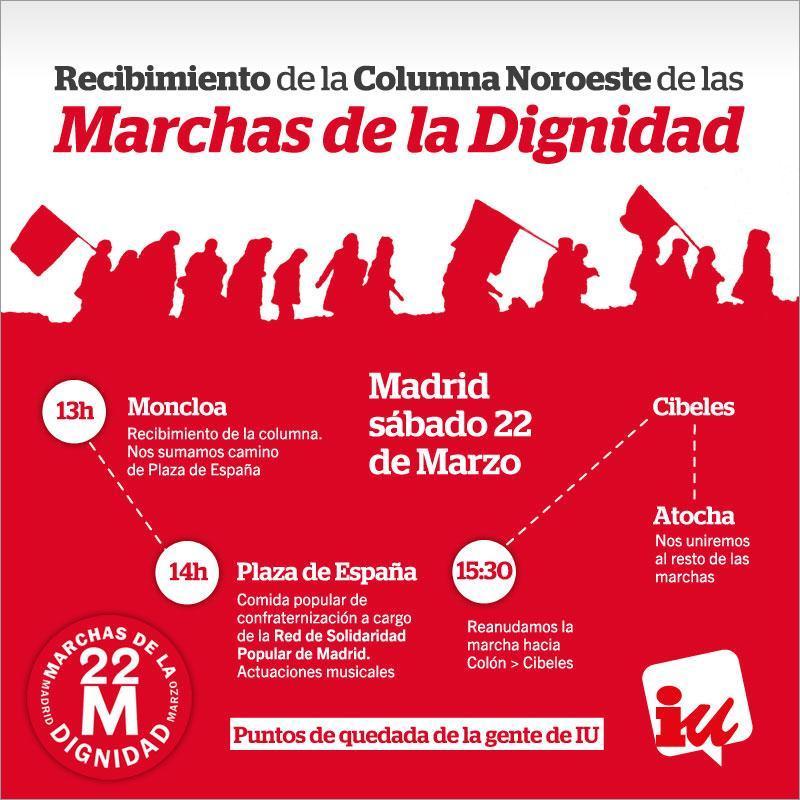 Llamamiento a la participación masiva en la manifestación de las Marchas de la Dignidad
