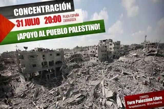 Participamos en la concentración contra el genocidio en Gaza