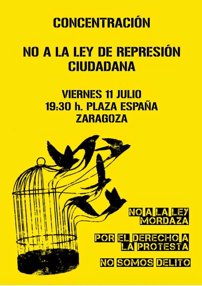"""Participamos en la concentración convocada contra la """"Ley Mordaza"""""""
