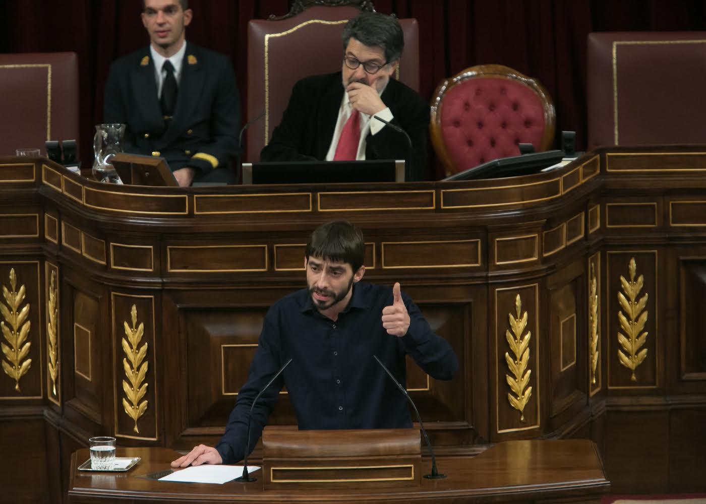 Álvaro Sanz lleva al Congreso las reivindicaciones de los municipios afectados por el campo de tiro y de maniobras de San Gregorio