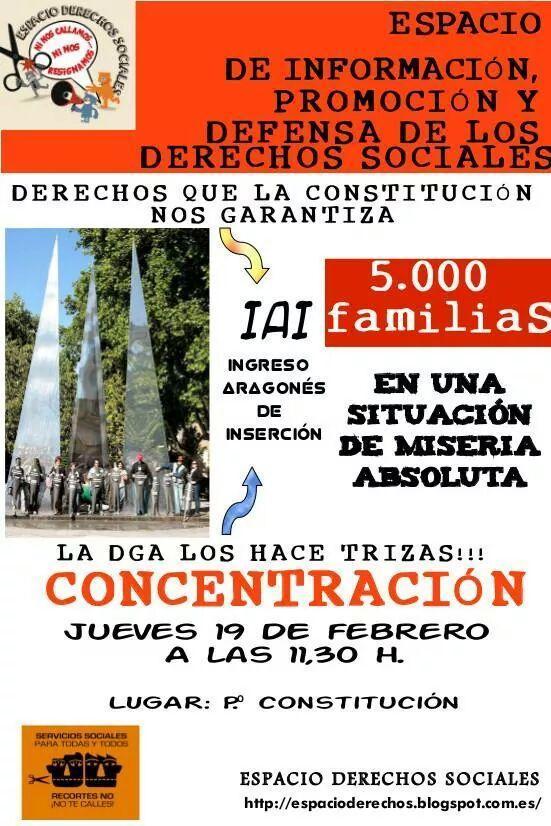 Nos sumamos y hacemos un llamamiento a la participación en la concentración en protesta por la gestión del IAI