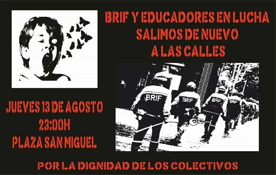 Apoyamos la movilización convocada por las BRIF y Educadores en Lucha hoy en Zaragoza
