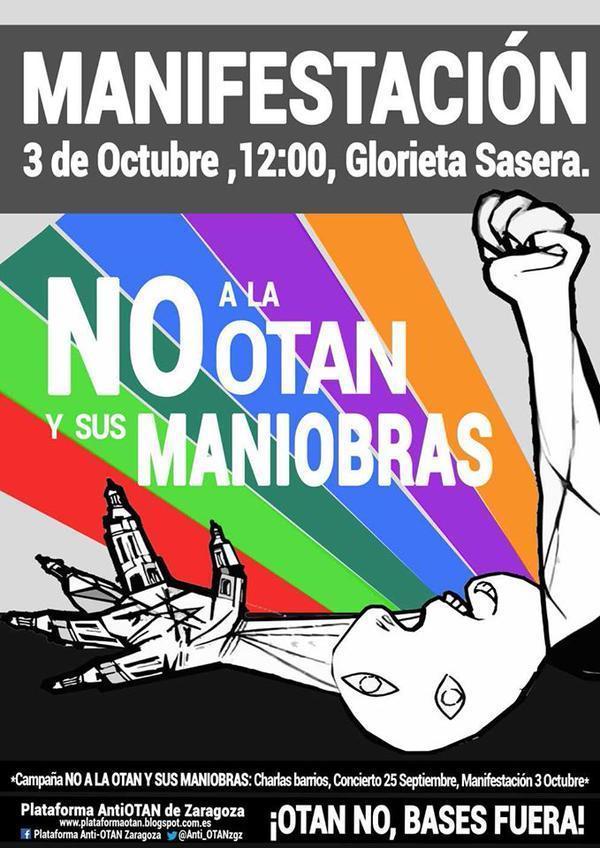 Participamos en la manifestación contra las maniobras de la OTAN