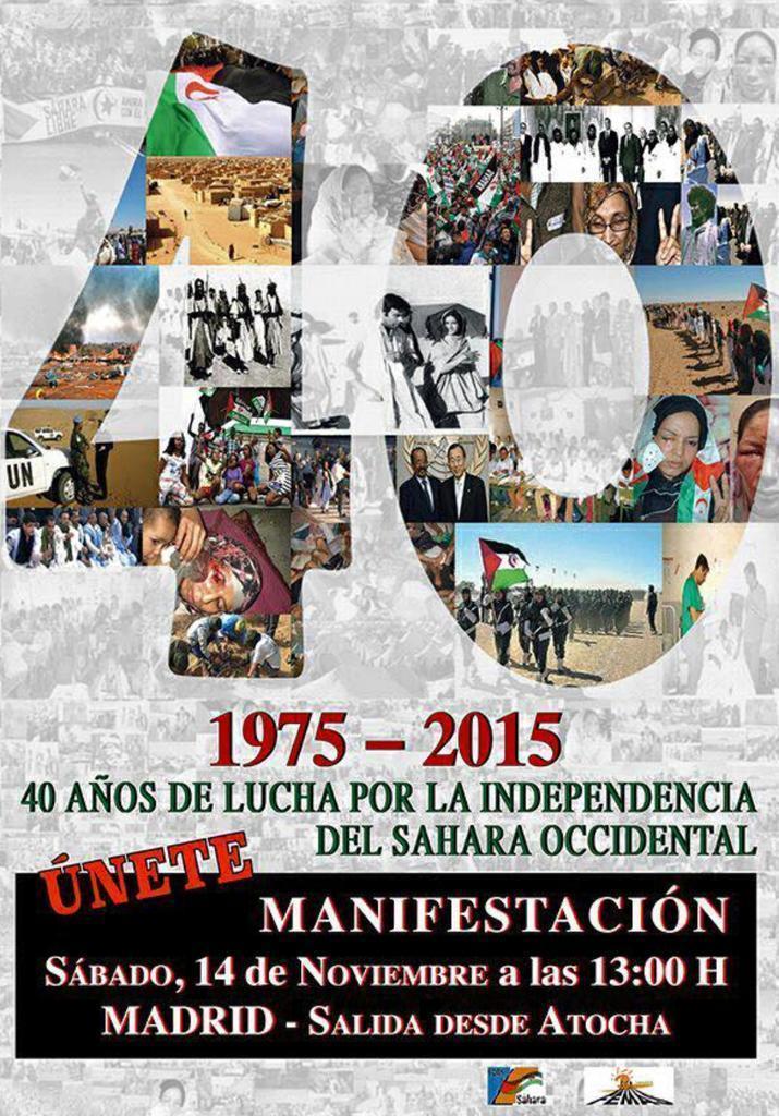 Participamos en la manifestación estatal de apoyo al Pueblo Saharaui en Madrid