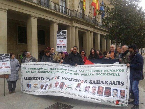 En Común participa en la concentración en apoyo a los presos saharauis de Gdeim Izik ante su huelga de hambre indefinida