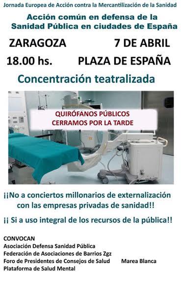 Llamamiento a la participación en la movilización contra la mercantilización de la sanidad