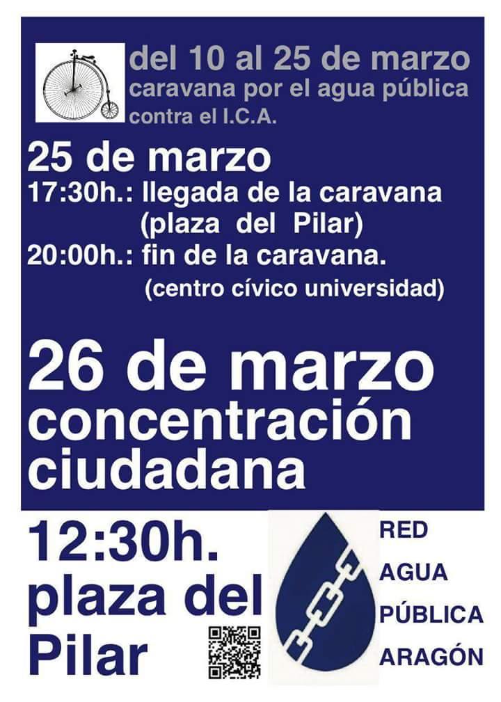 Participamos en los actos convocados por la caravana por el agua pública