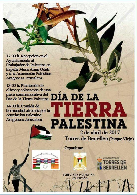 Nos sumamos al acto conmemorativo del Día de la Tierra Palestina organizado en Torres de Berrellén