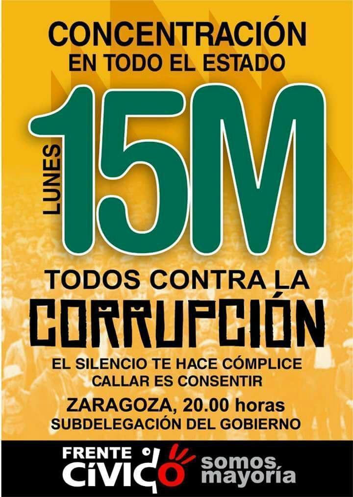 Llamamiento a la participación en las movilizaciones contra la corrupción