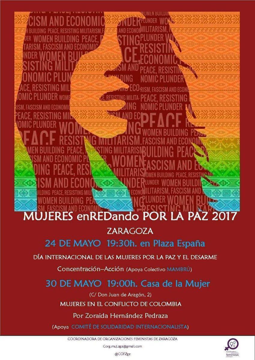 Nos sumamos a la concentración convocada con motivo del Día internacional de las Mujeres por la Paz y el Desarme