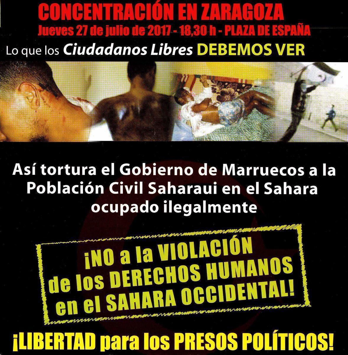 Participamos en la concentración contra las irregularidades manifiestas en el juicio a activistas saharauis de 'Gdeim Izik'