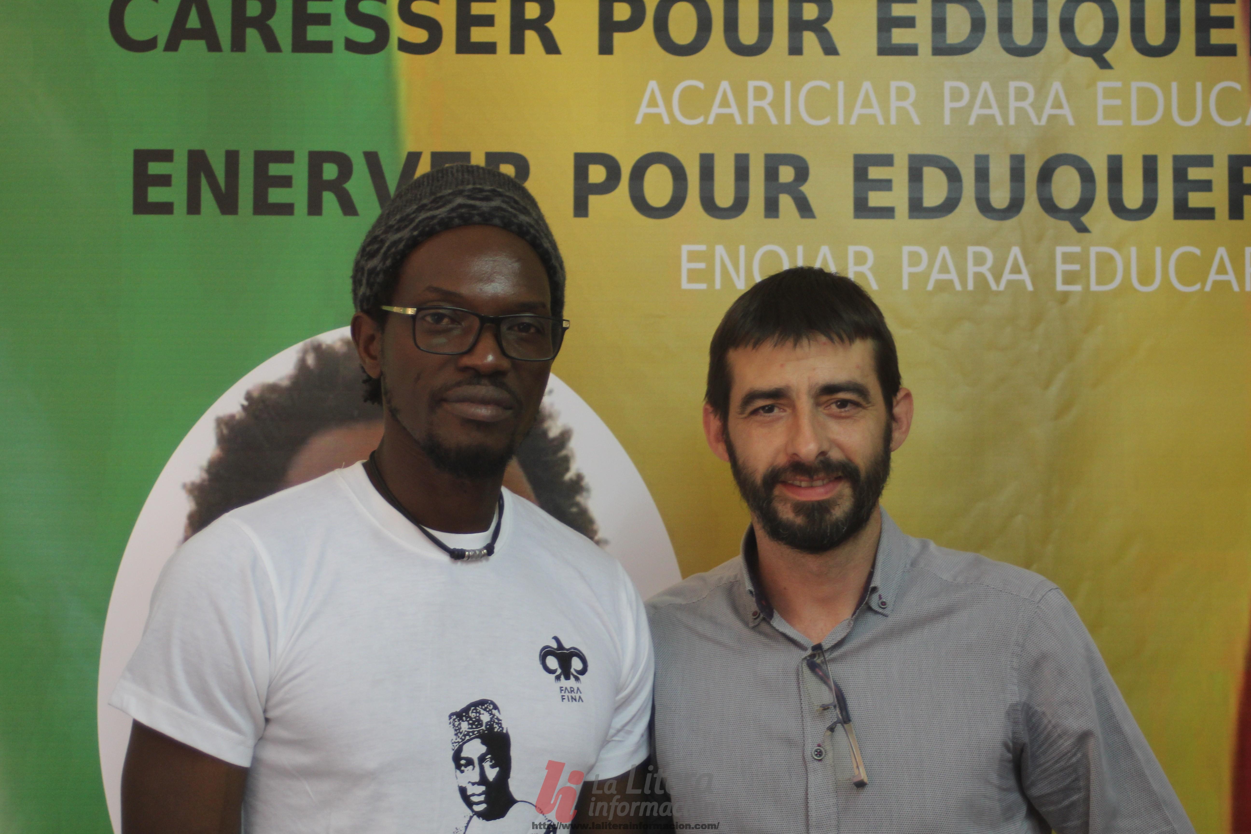 Encuentro en Binéfar con el líder  revolucionario malinés, Ras Bath