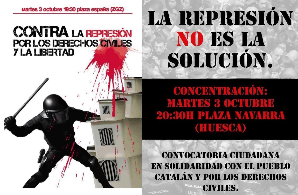 Llamamiento a la participación en las movilizaciones ciudadanas convocadas contra la represión y por los derechos civiles