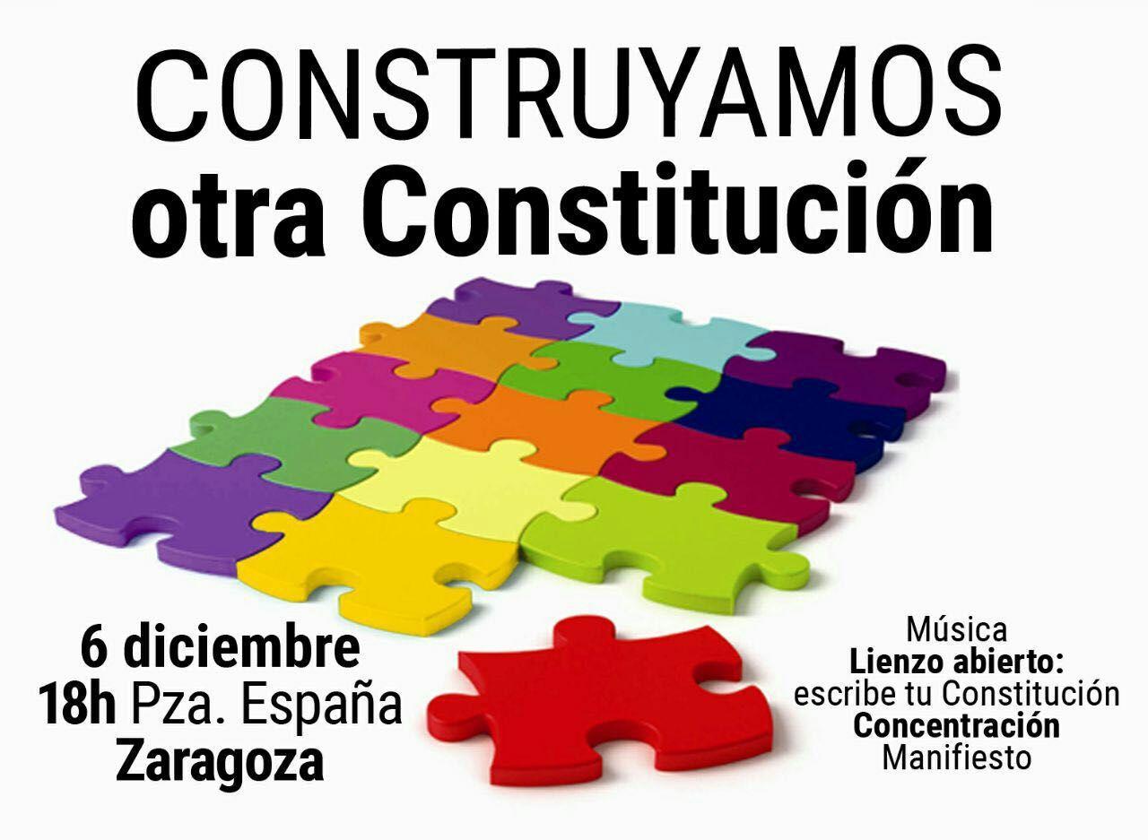 """Celebramos el 6 de diciembre con la concentración """"Construyamos otra Constitución"""""""