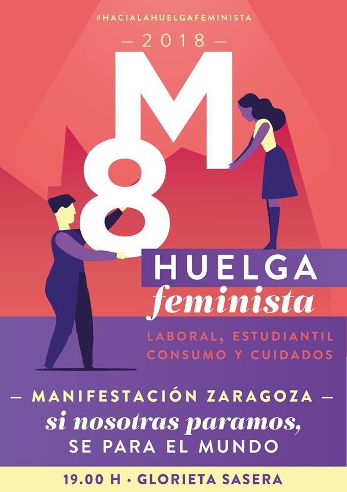 Llamamiento a secundar la huelga feminista de 24 horas y los actos convocados con motivo del 8 de marzo