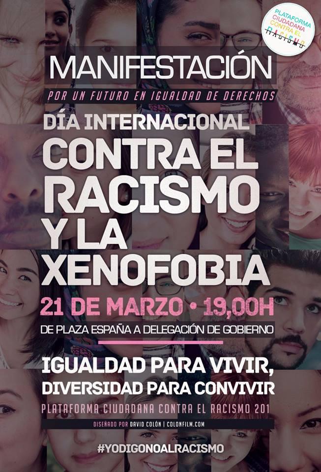 Llamamiento a la participación en los actos convocados contra el racismo y la xenofobia