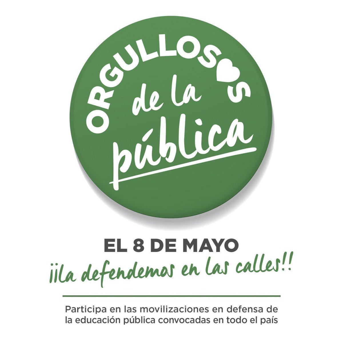 Participamos en las movilizaciones en defensa de la educación pública y contra el modelo segregador y excluyente
