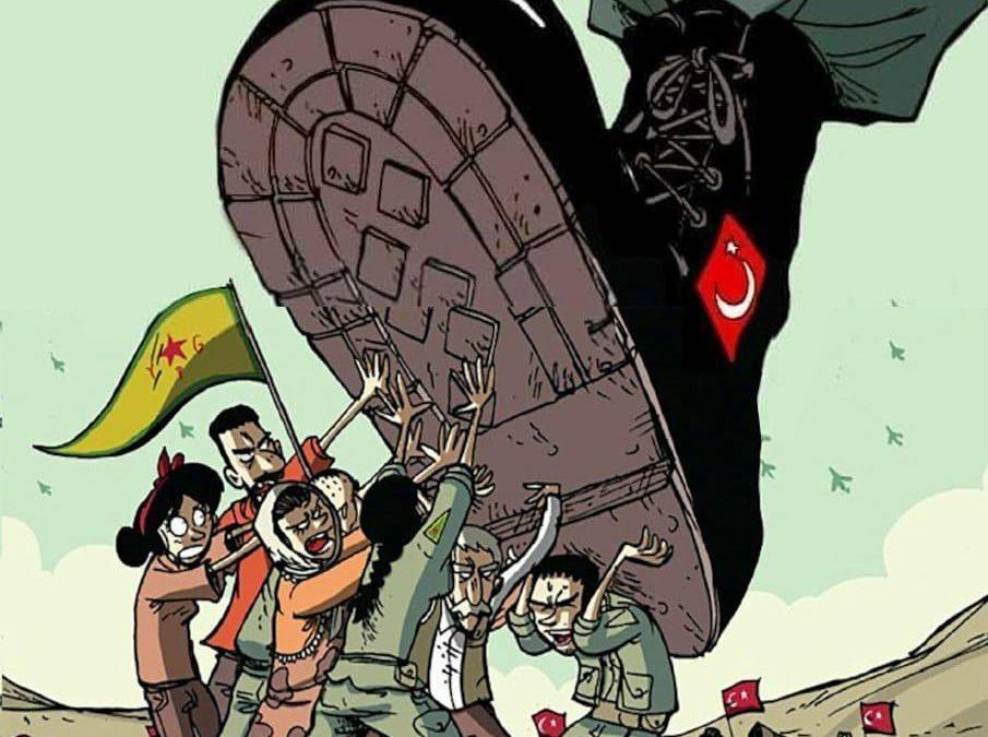 Condenamos el acto de violencia unilateral del Gobierno turco de Erdogan al invadir el norte de Siria y apoya la concentración convocada en Teruel el Martes día 15