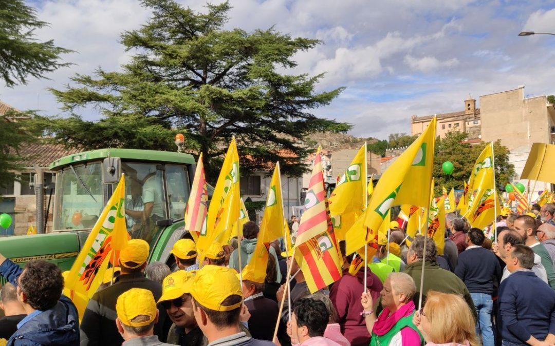 Apoyamos al sector agrario reivindicando precios justos para quienes producen alimentos