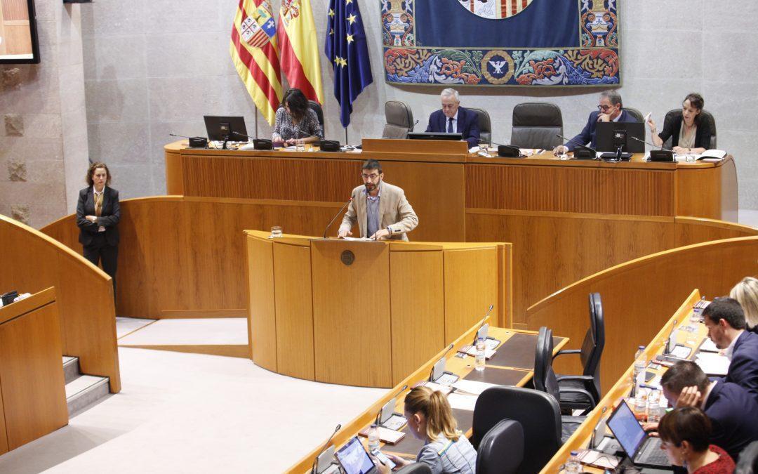 Enmiendas al gasto presentadas al Presupuesto de Aragón para 2020