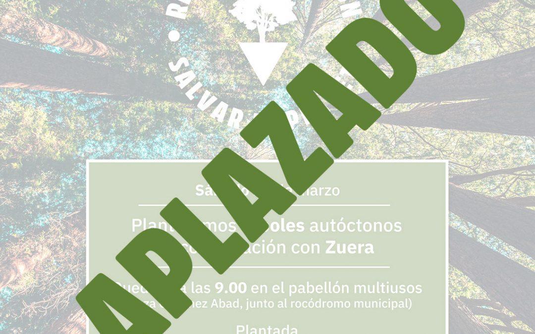 Aplazada la campaña «Replantar Aragón»