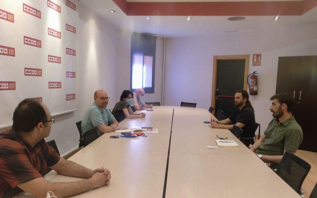 Los máximos representantes de CCOO Aragón e IU Aragón ponen en valor el consenso social sobre la defensa y mejora de los servicios públicos