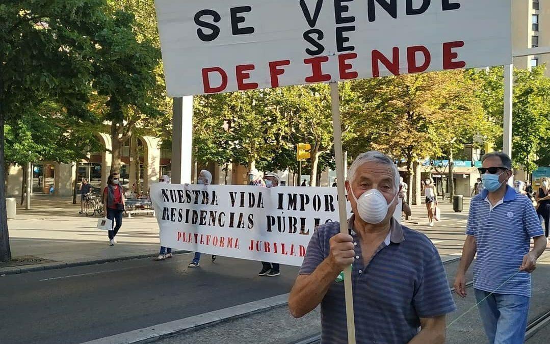 """Denunciamos que """"la política de Azcón se basa en priorizar el lucro privado por encima del interés general"""""""