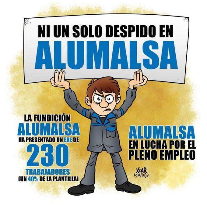 Todo nuestro apoyo a las y los trabajadores de Alumalsa que este sábado se manifiestan contra los despidos