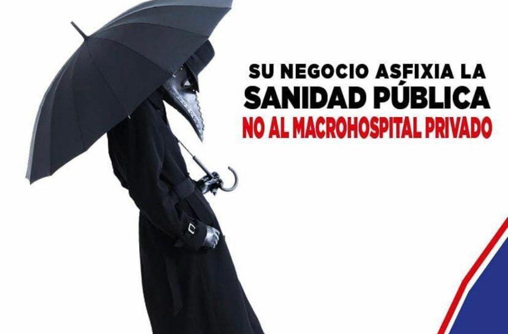 Apoyamos el acto convocado en defensa de la sanidad pública y contra la construcción del macro hospital privado en Zaragoza