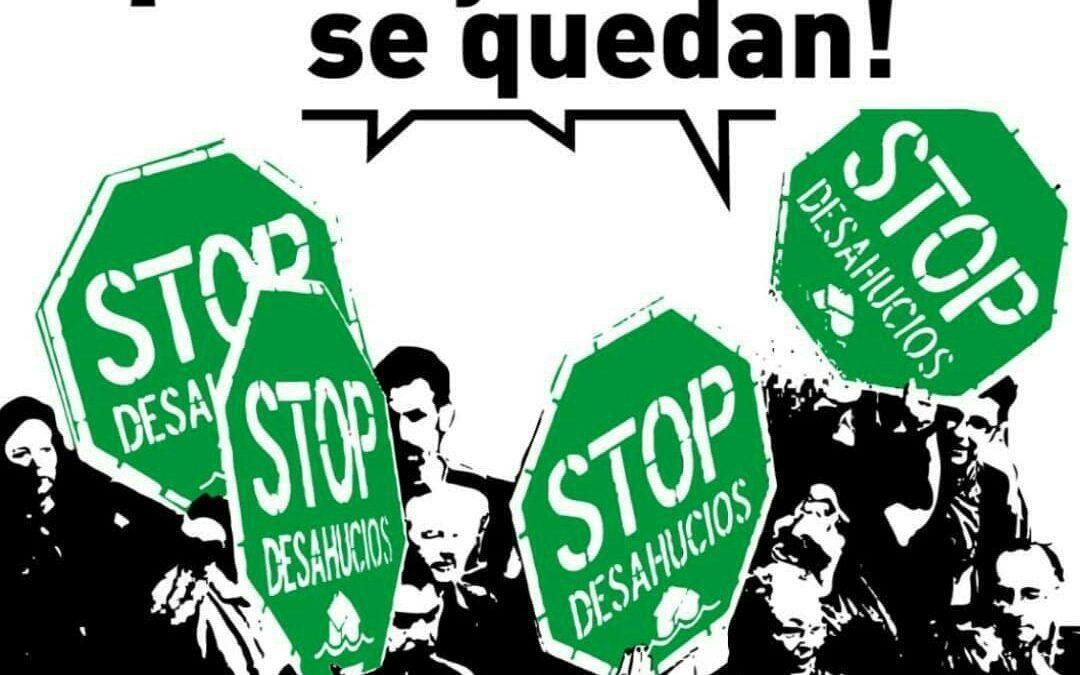 Condenamos los desahucios y exigimos más voluntad política para dar alternativas habitacionales