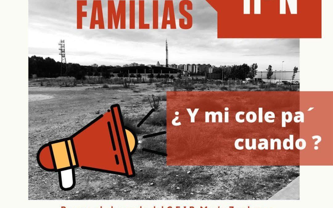 Todo nuestro apoyo a la huelga de las familias del alumnado del CEIP María Zambrano