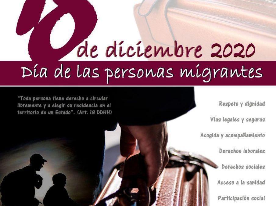 Hacemos un llamamiento a participar en la concentración convocada por el Día de las Personas Migrantes