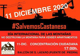 Hacemos un llamamiento a participar en el acto de la Plataforma en Defensa de las Montañas de Aragón para frenar el proyecto de Castanesa