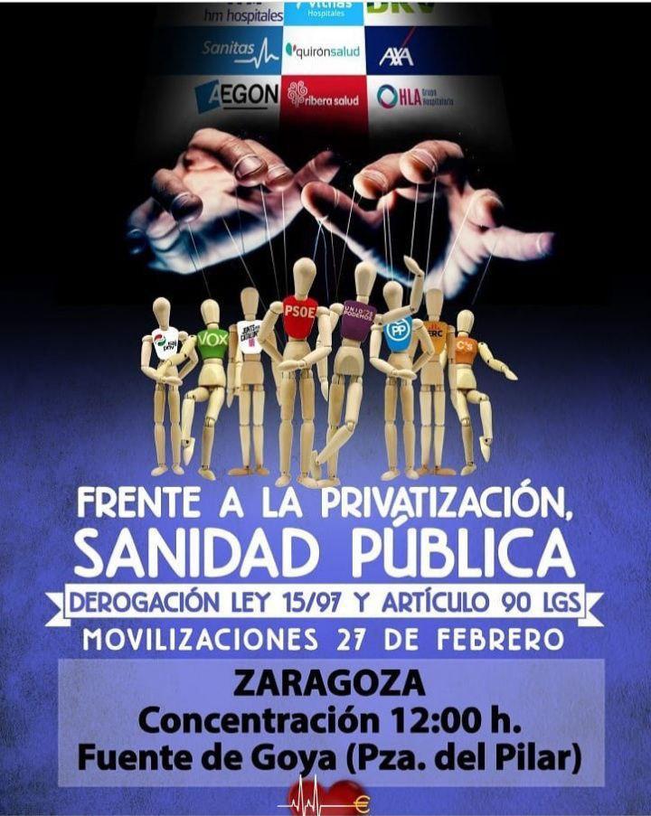 Concentración por la sanidad pública: Zaragoza