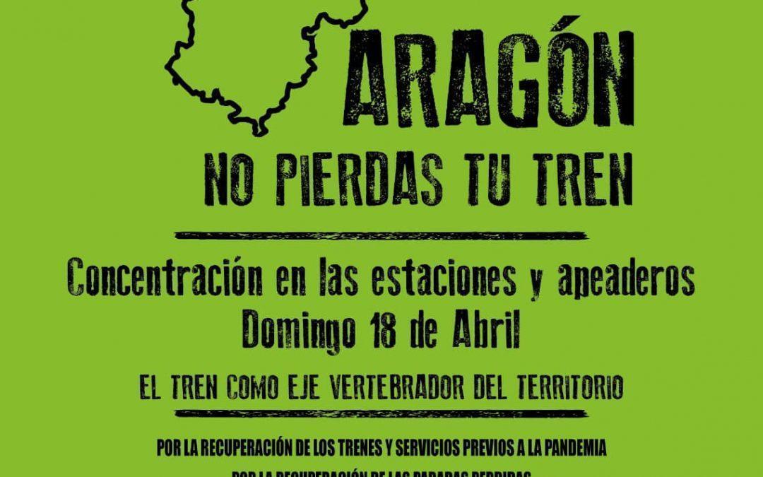 Teruel se une a las movilizaciones 'Aragón No Pierdas Tu Tren'