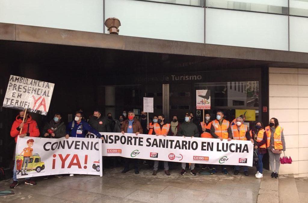 Ganar Teruel apoya las reivindicaciones de los profesionales del transporte sanitario