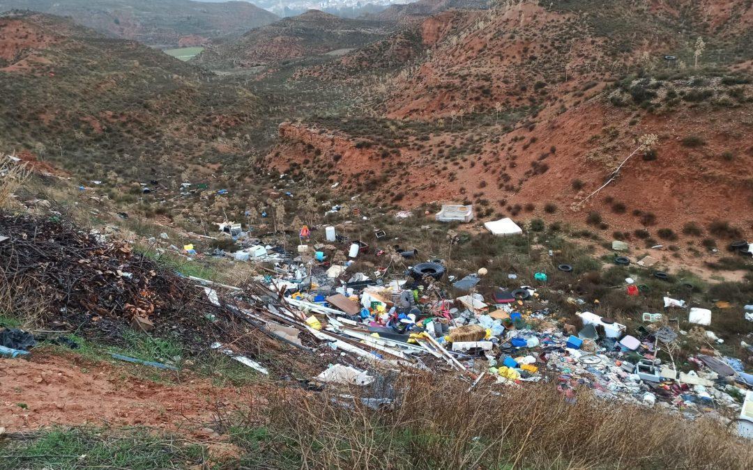 Ganar Teruel denuncia la situación de los vertederos ilegales en el Día de la Tierra