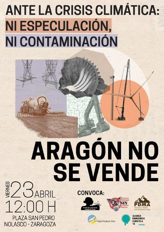 Concentración 'Aragón no se vende'