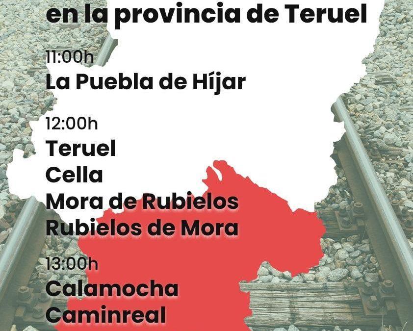 La plataforma Aragón No Pierdas Tu Tren convoca una movilización ciudadana en estaciones y apeaderos de las líneas aragonesas