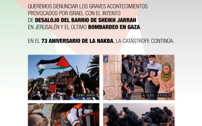 La comunidad palestina de Aragón convoca una concentración el viernes 14 de mayo