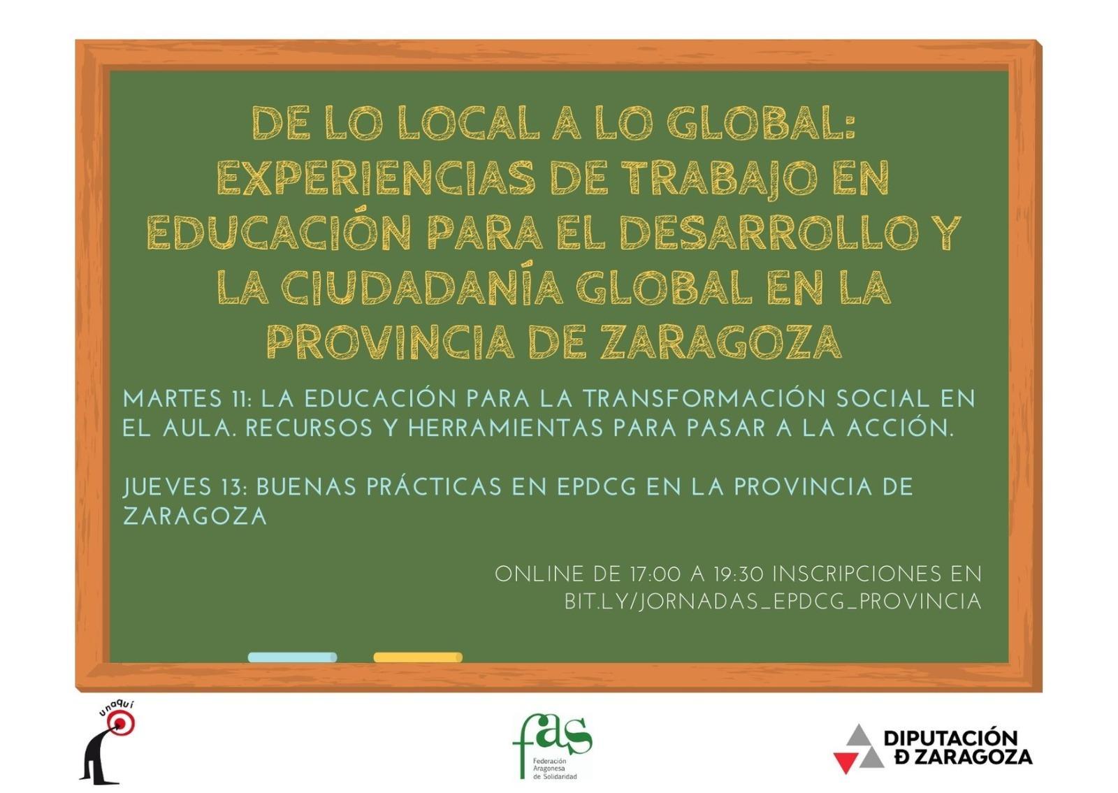 De lo local a lo global: experiencias de trabajo en Educación para el Desarrollo y la Ciudadanía Global en la Provincia de Zaragoza