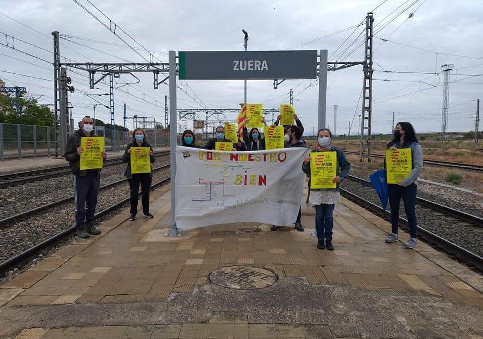 El Ayuntamiento de Zuera aprueba una declaración institucional por la defensa del ferrocarril
