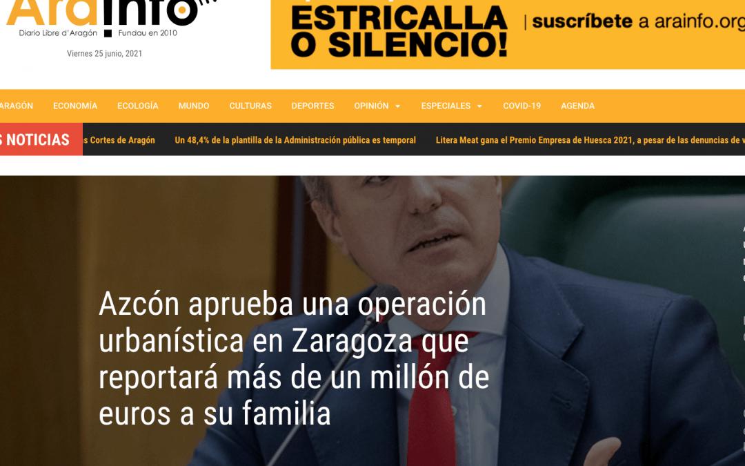 Condenamos duramente la actitud de Azcón y reclamamos que se depuren responsabilidades hasta sus últimas consecuencias