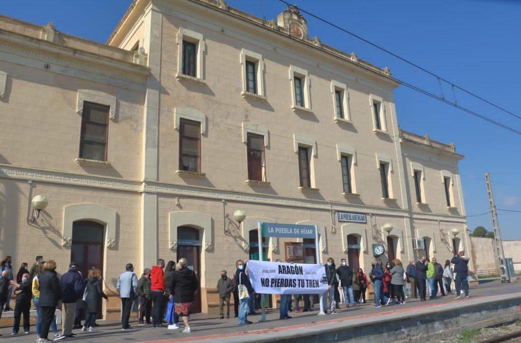 Ganar Teruel – IU Teruel critica la decisión de Soro y se une a las movilizaciones de Aragón No Pierdas Tu Tren