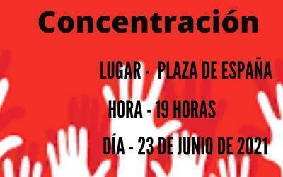 Llamamos a participar en la concentración por el fin del bloqueo a Cuba